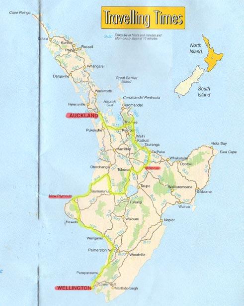 New Zealand Map North Island Detailed.New Zealand